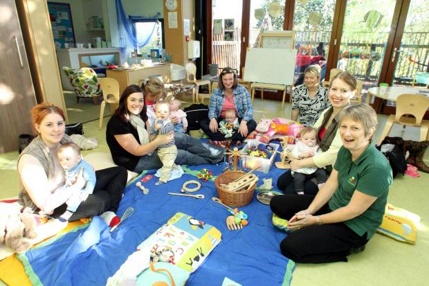 The mother and baby group at the Treetops Children's Centre in Haworth