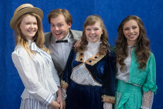 Some of the cast from Bingley Amateurs' production of Hello Dolly!, which is being staged at Bingley Arts Centre this week