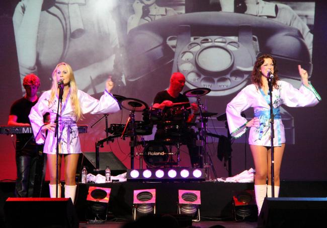 l  The Ultimate Abba Tribute, part of the Thank You For The Music show being performed at St George's Hall in Bradford