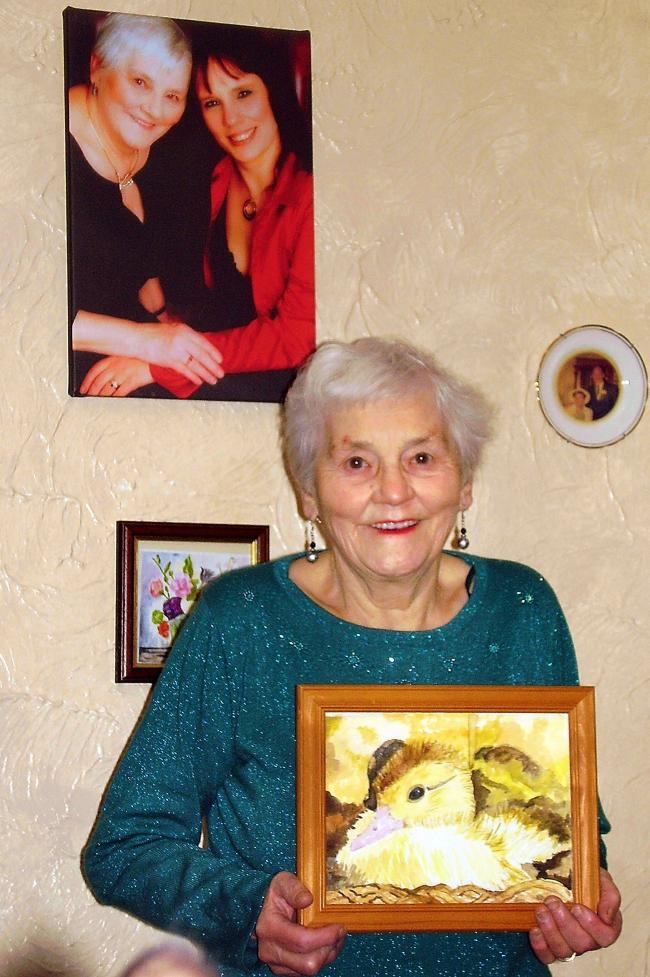 Keighley Art Club member, Rita Butterfield, who joined 30 years ago