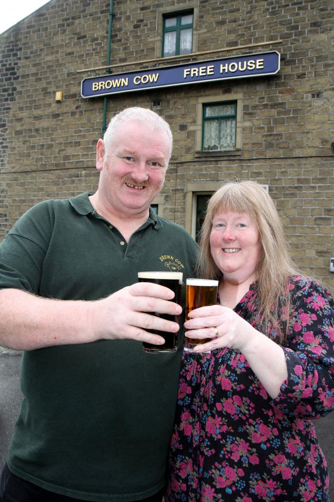 arry and Carol Smith, of the Brown Cow in Keighley, which is among the few pubs selling real cider