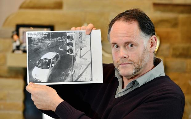 Nigel Dixon, who is appealing a driving ticket from Bradford Council issued after his car was diverted for a 10K race