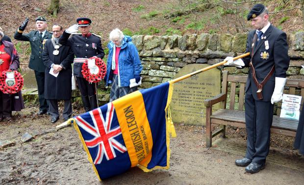 Keighley News: The service to commemorate the airmen who died during the wartime crash