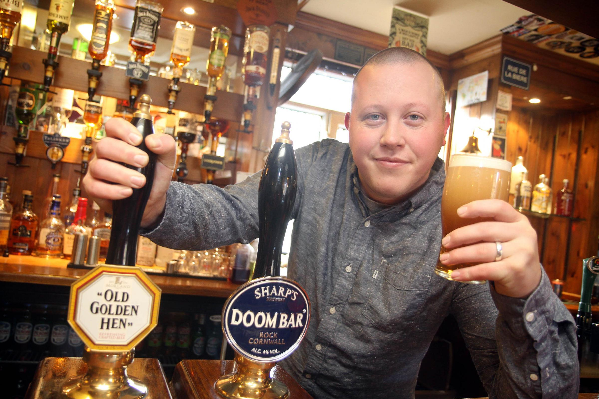 Jonathan Butterfield, of the    New Inn, Wilsden, who features in the CAMRA campaign
