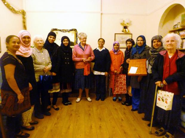 Ladies from the Ahmadiyya Muslim Association during their visit to Norwood House