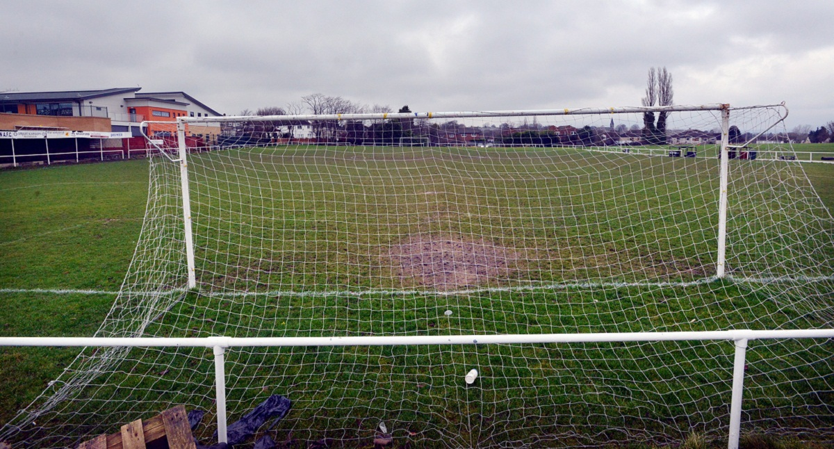 The Scotchman Road pitch cuts a sorry picture as Campion's match against Steeton was one of those to be called off