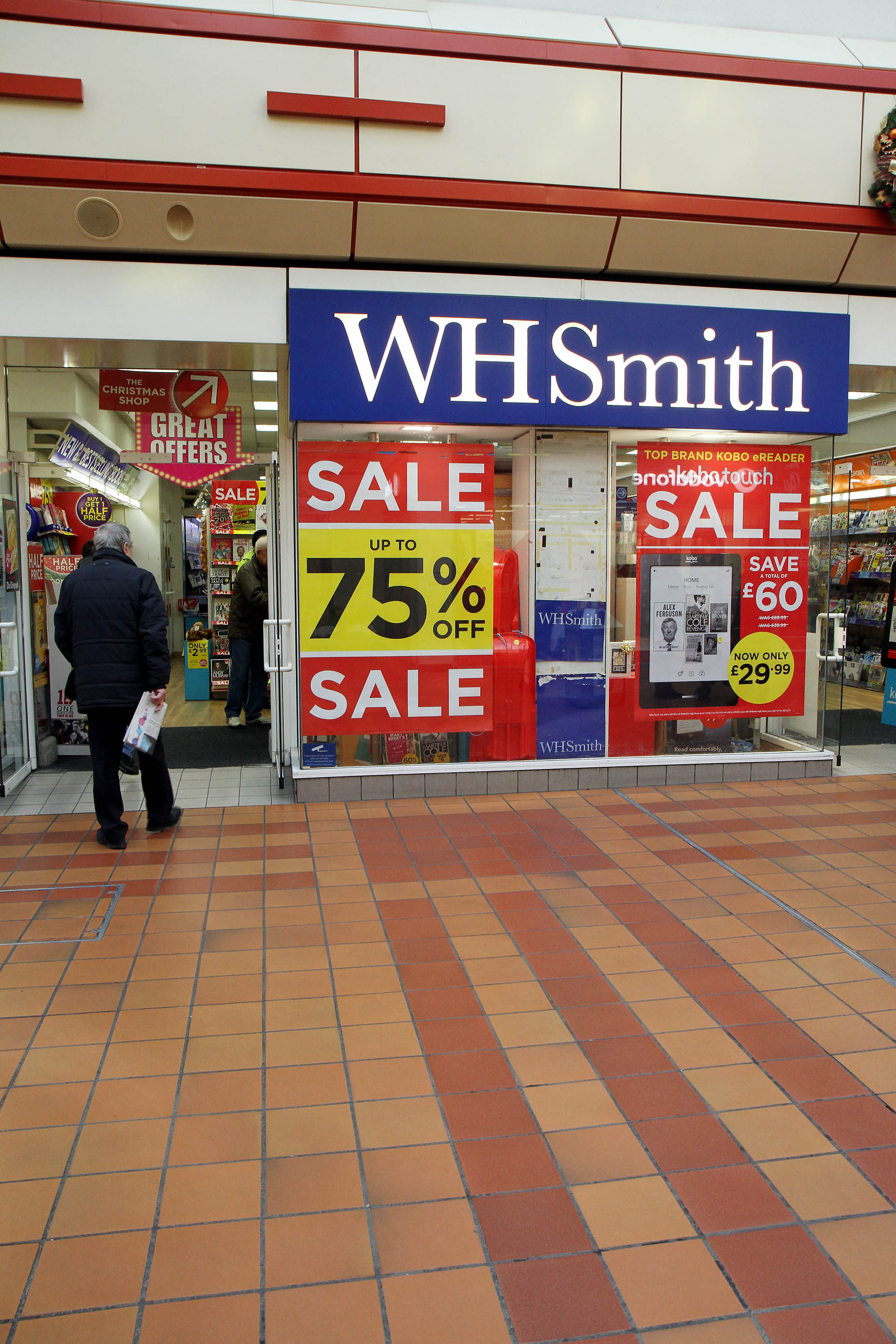 WH Smith in Keighley's Airedale Shopping Centre, which could become the new home for the town's main Post Office branch