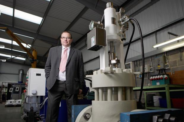 Advanced Actuators managing director, Chris Woodhead, at the Silsden engineering firm's plant