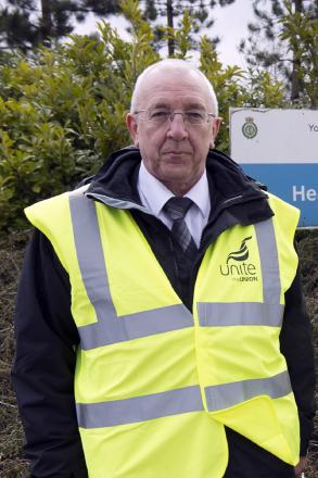Unite regional officer, Terry Cunliffe, says patients' lives are being put at risk
