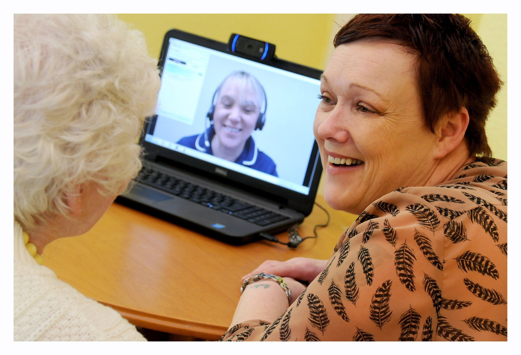 Patients and staff at the latest care home to use Airedale Hospital's Telehealth hub service