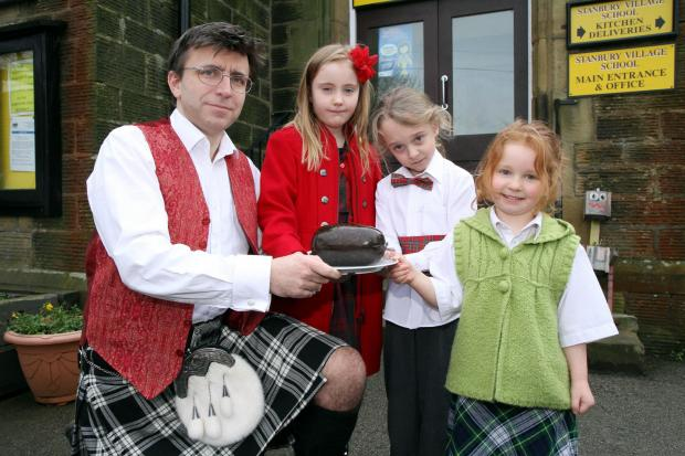 Haggis on menu for Burns birthday at Stanbury Primary School