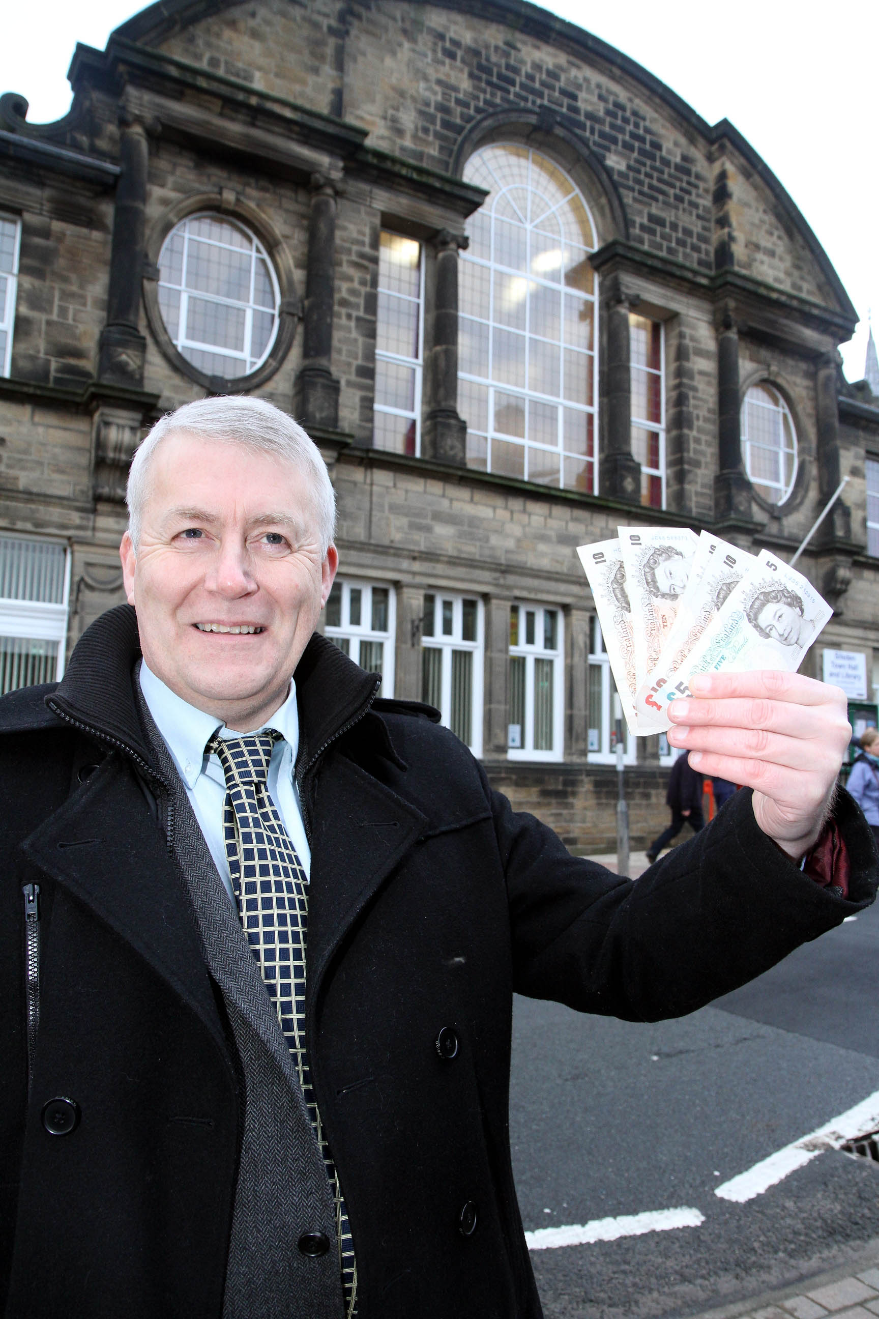 Councillor Andrew Mallinson, who has footed the £45 bill of bringing a scrutiny meeting to Silsden out of his own pocket
