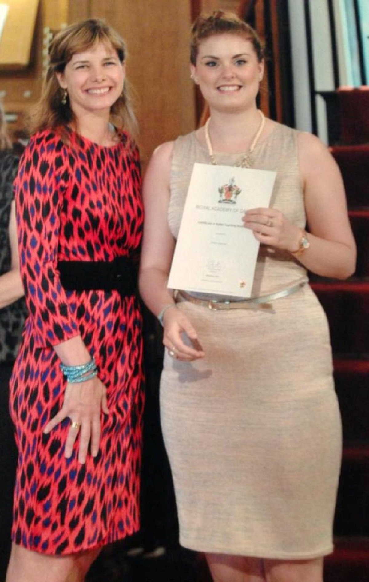 Fiona Spencer, of Keighley Amateurs, receives her award from Strictly Come Dancing judg