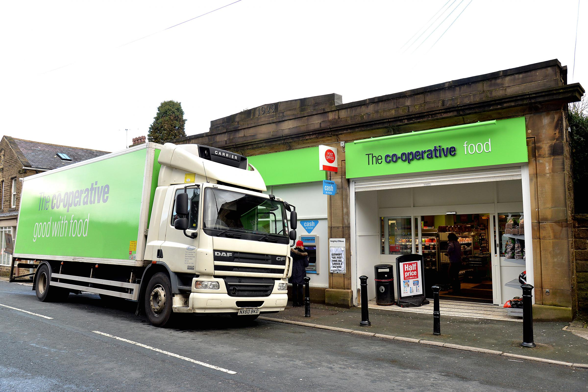 Oxenhope's Co-op store, which was robbed by mask raiders