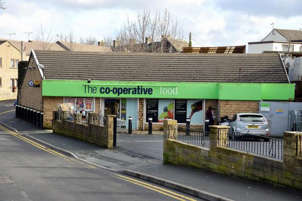 Keighley News: The Co-op store in Cullingworth, which was among those raided on Saturday night