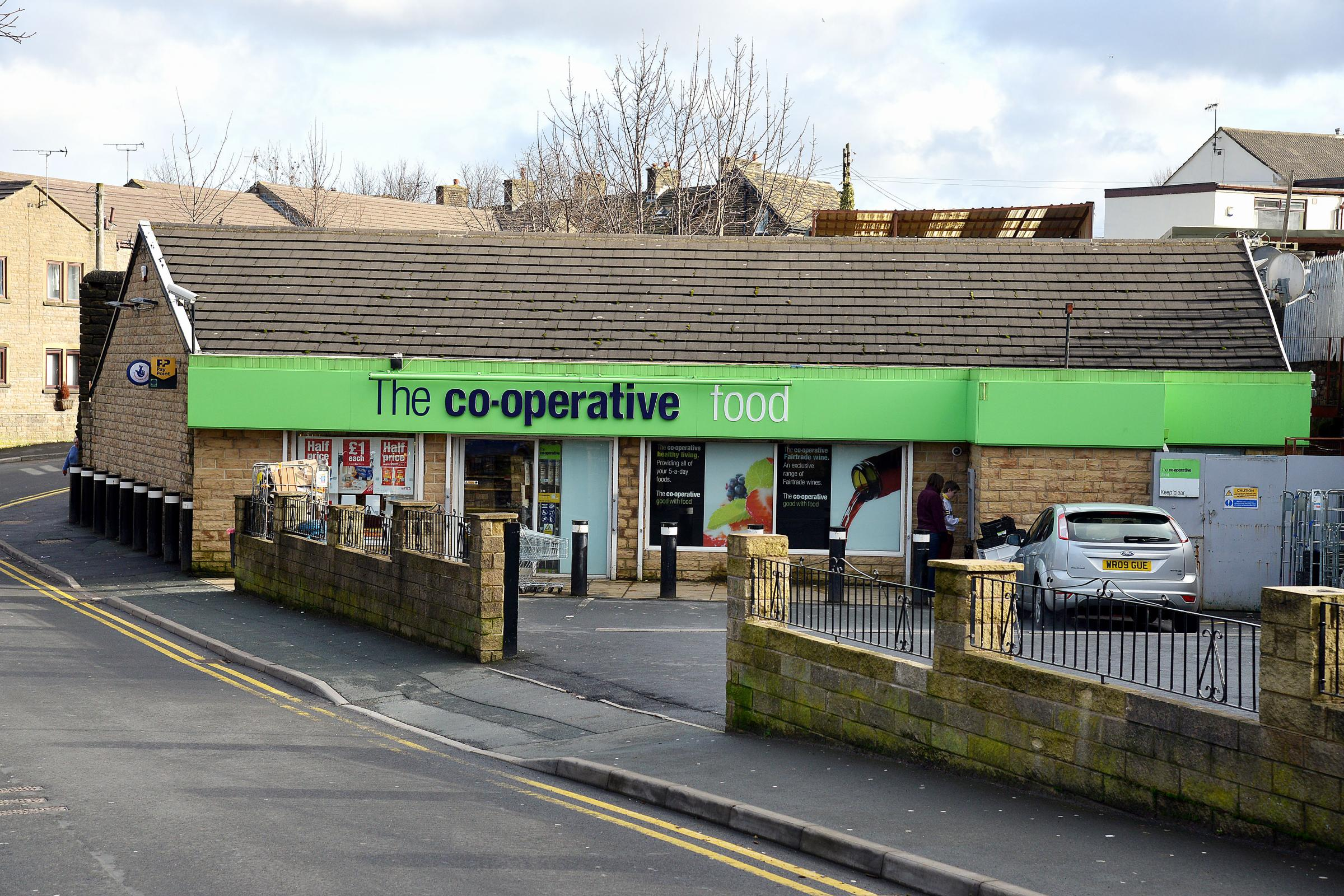The Co-op store in Cullingworth, which was among those raided on Saturday night
