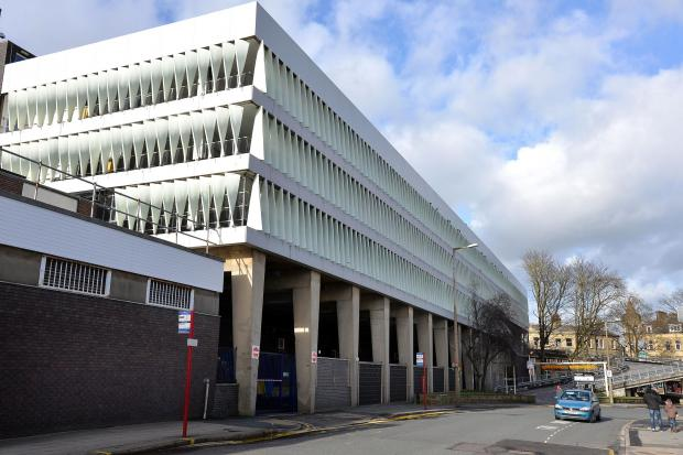The multi-storey car park in Keighley bus station
