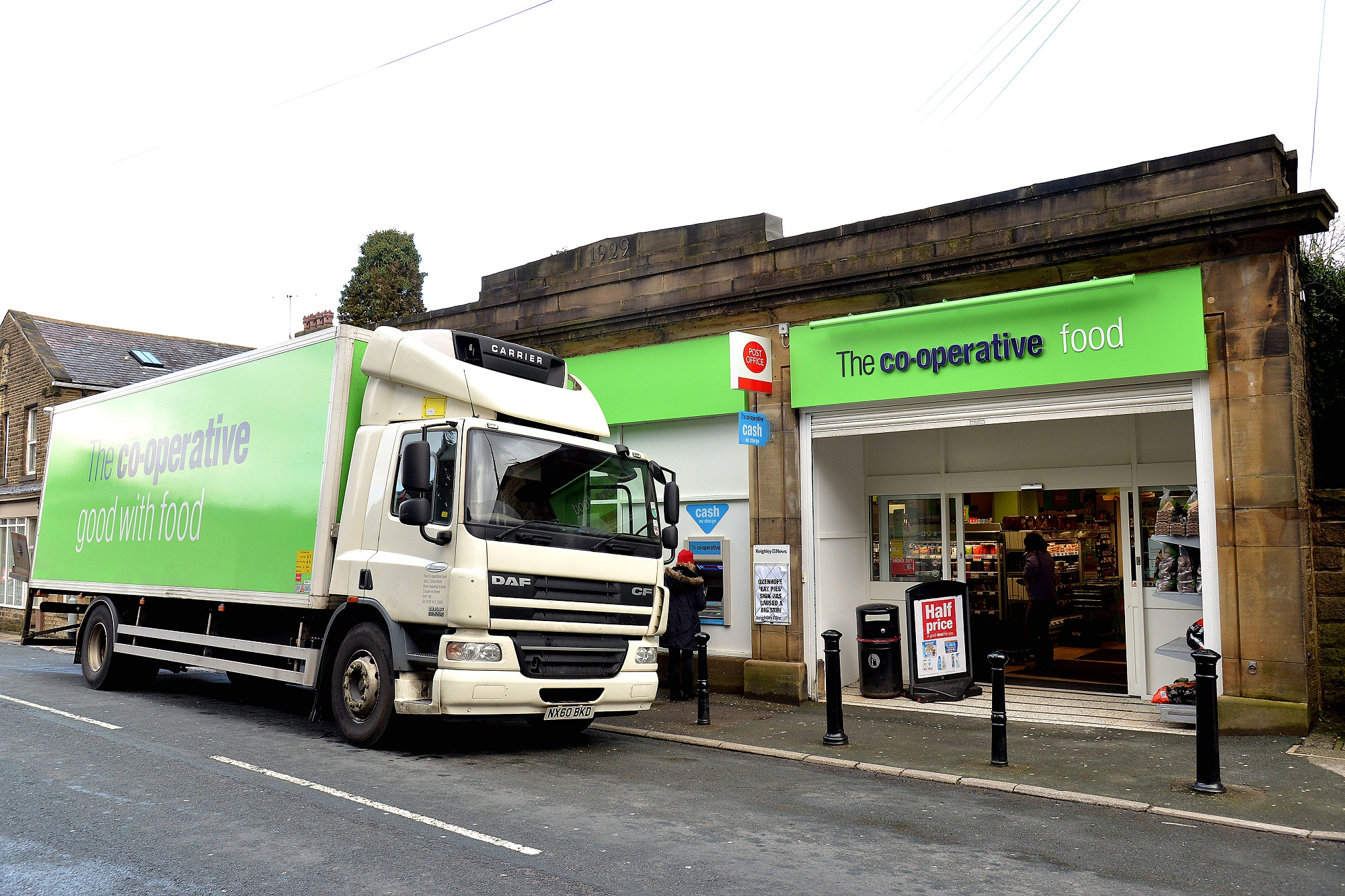 The Co-op store in Oxenhope was one of the ones targeted
