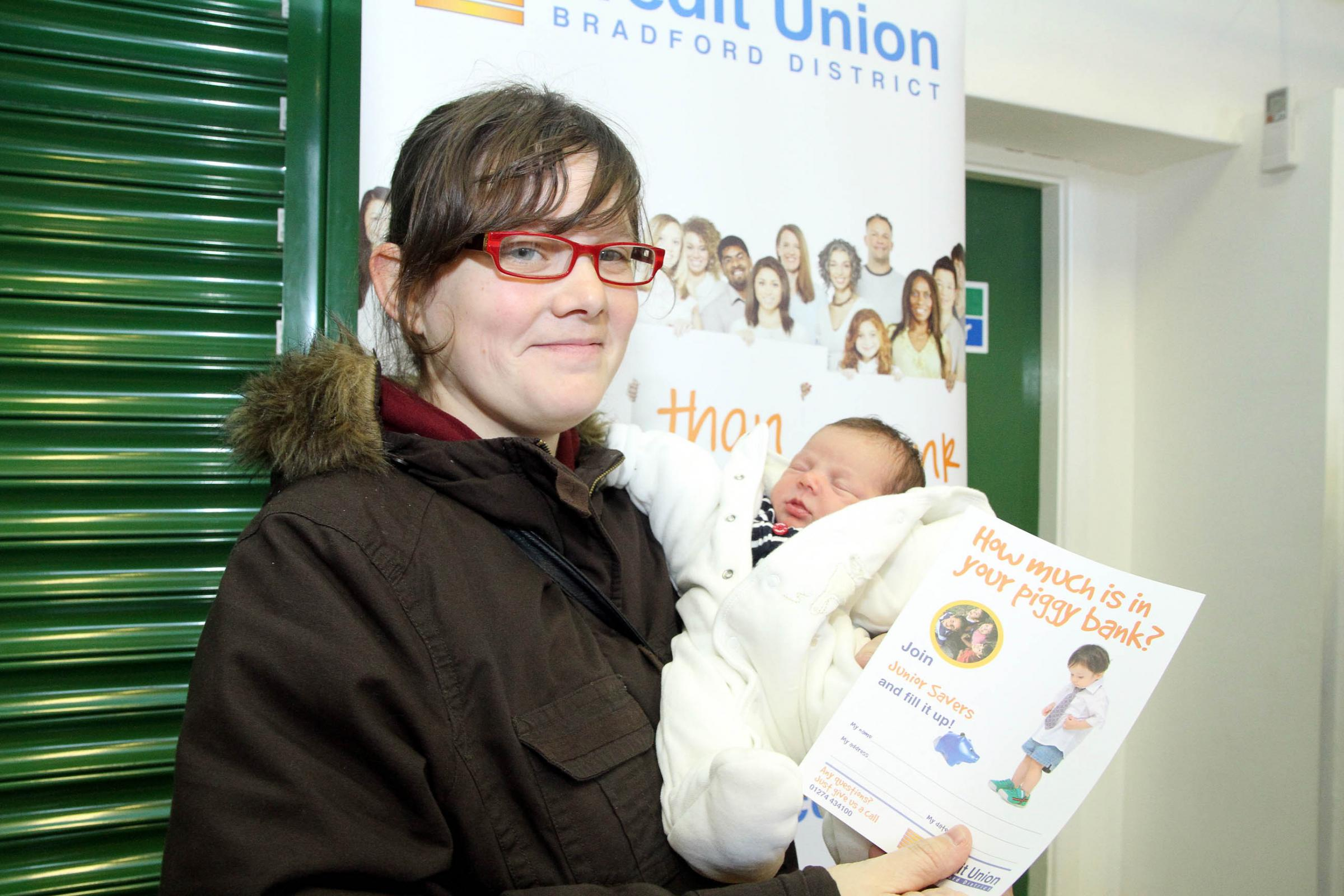 Our Lady of Victories Primary School parent, Michelle Wright, signed up her daughter, Aimee Louise Foulds, who aged just one week is the youngest credit union member