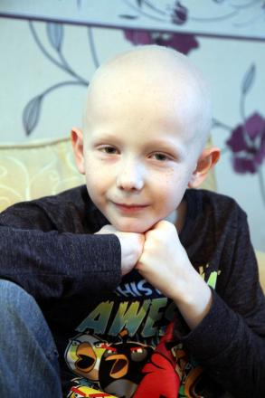 Callum Ingham, eight, from Keighley, who is fighting neuroblastoma, an aggressive form of childhood cancer