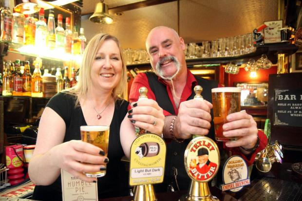 Kirsty and Sean Garvey, who have received a Camra award for the quality of ale served at the New Inn, Denholme, since they took over the pub