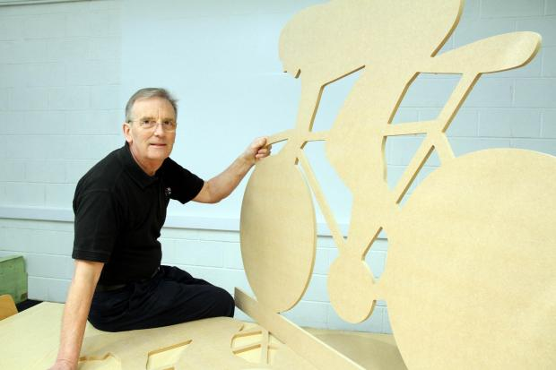Keighley News: William Jowitt with some of the Tour de France shapes he has made
