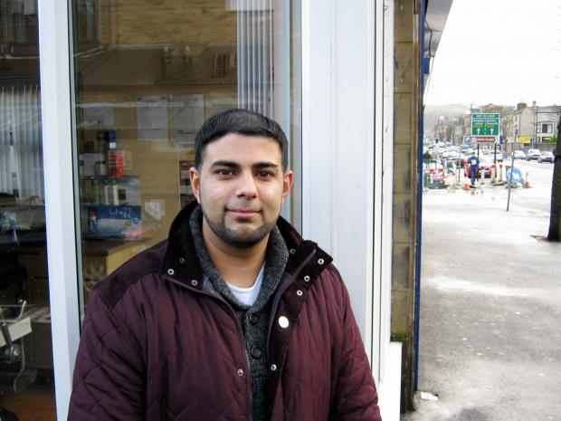 Keighley businessman, Hameed Islam, of WYL Estate, who owns a town barber's shop getting a new extension
