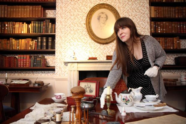 Bronte Parsonage Museum volunteer, Amy Rowbottom, in one of the rooms at the Haworth museum, which will feature new displays for the re-opening