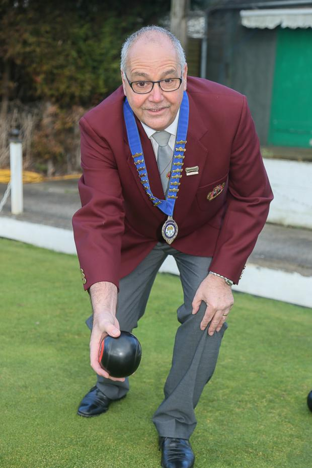 Keighley News: Chris Haselby, the new British Crown Green Bowling Association president