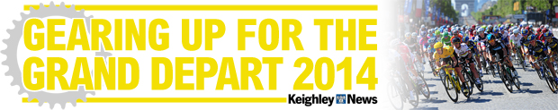 Keighley News: Disaster banner KEIGHLEY grand depart banner scaled.jpg for the homepage