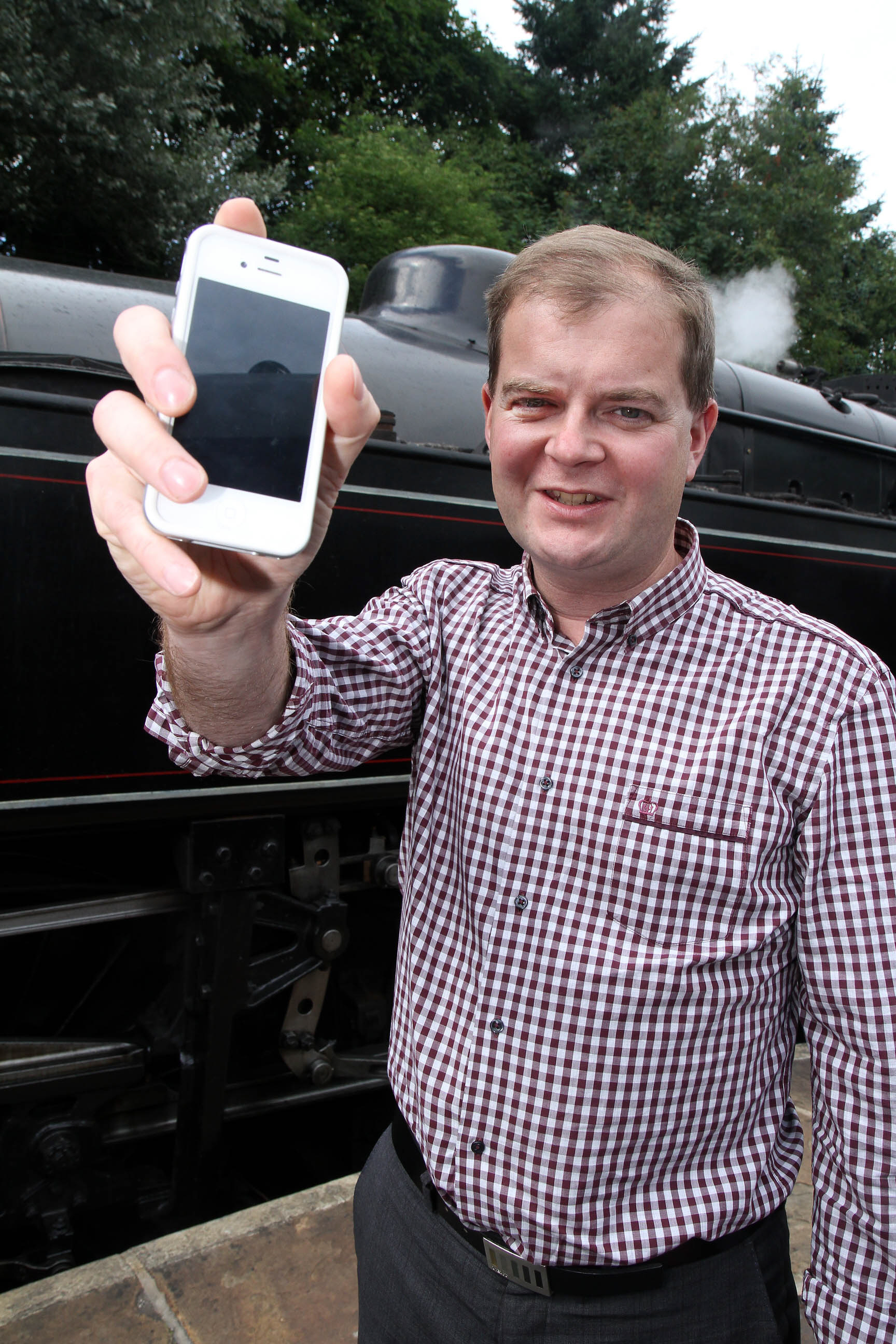 Keighley and Worth Valley Railway chairman, Dr Matt Stroh, welcomes the smartphone app project
