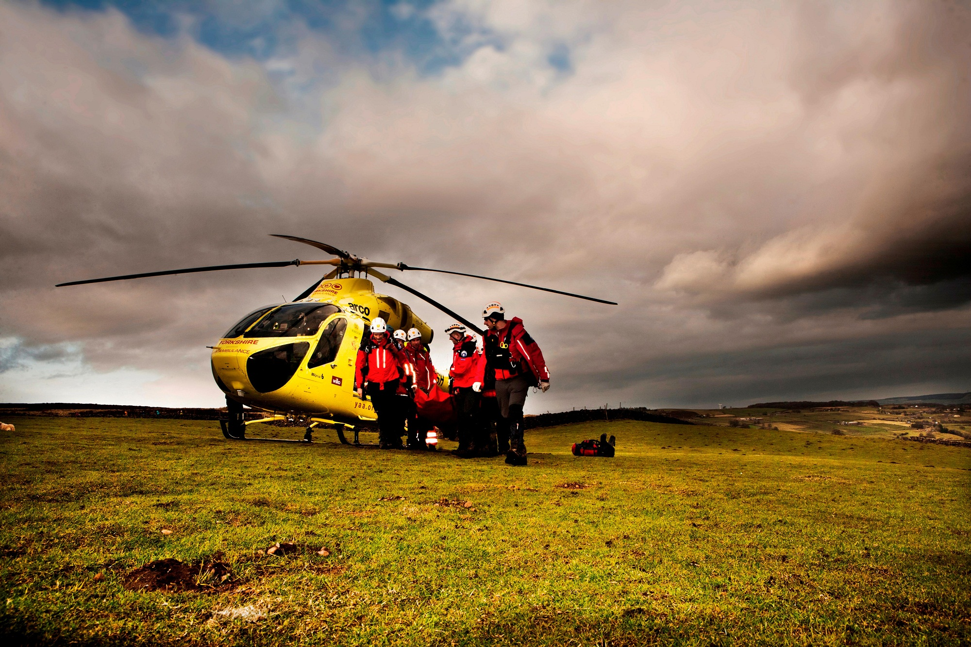 Calder Valley Search and Rescue Team, joined by Yor
