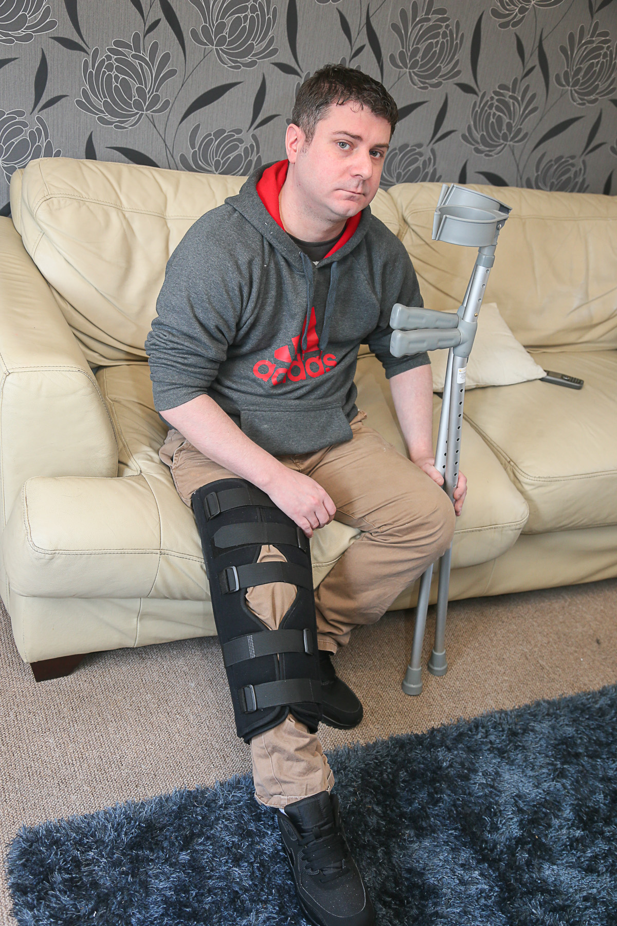 Colin Wilson, of Braithwaite, whose broken leg failed to be diagnosed by two different hospitals, leaving him in agony as he still waits for surgery to mend the fractured tibia