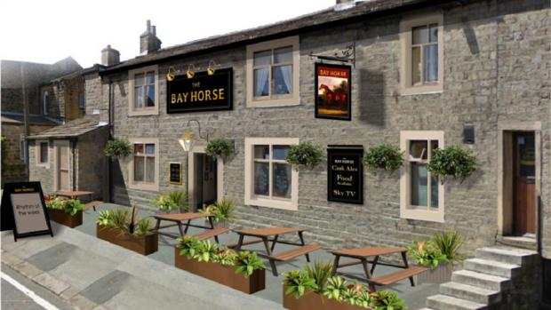 An artists' impression of how the refurbished Bay Horse pub in Cowling will look following a £250,000 upgrade