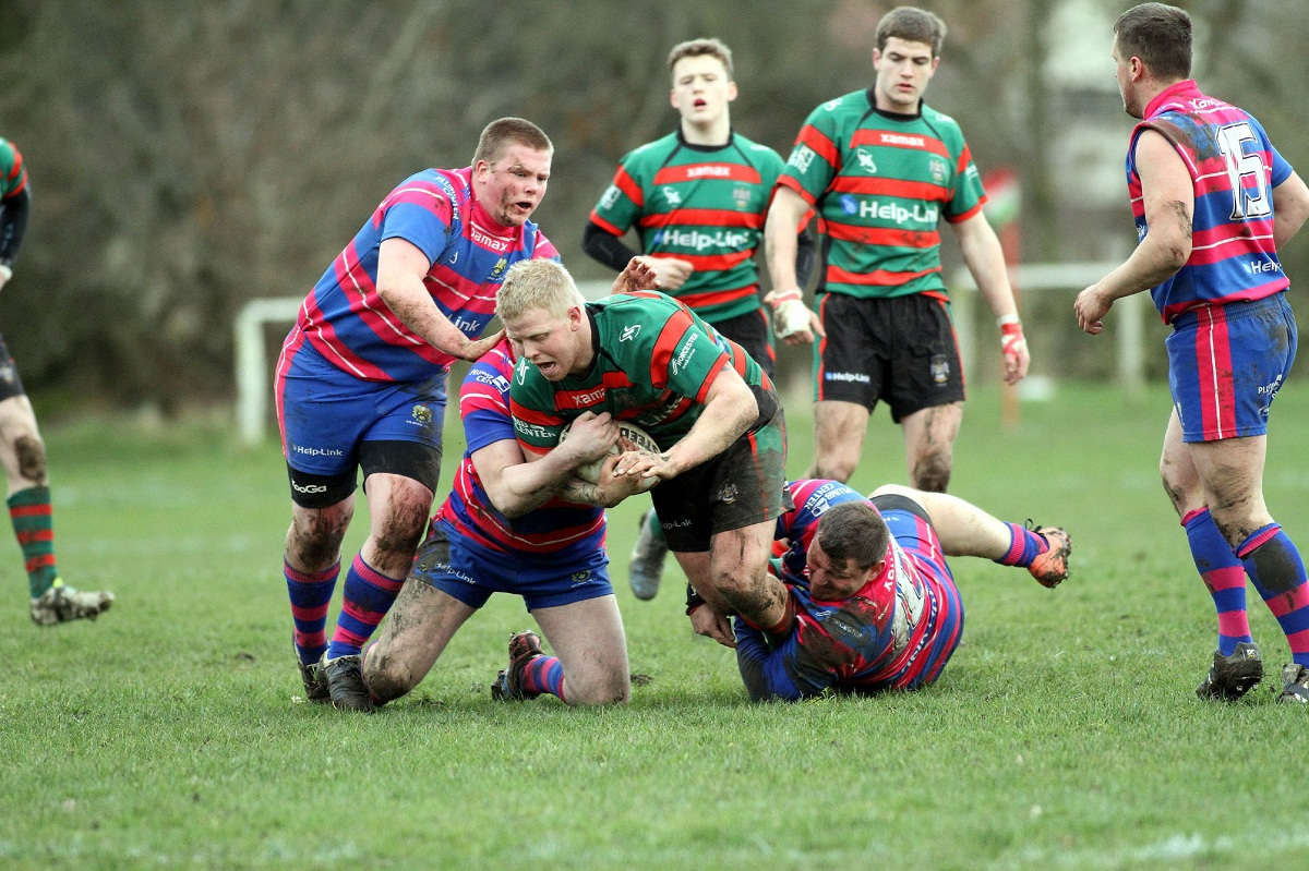 Danny Snowden scored a typical prop's try for Keighley