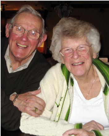 Well-known Keighley sportsman, Arthur Jackson, who has died aged 87, pictured with his wife, Nora