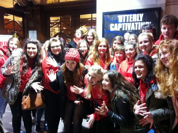 Keighley News: Holy Family Catholic School students during their theatre tour trip to London