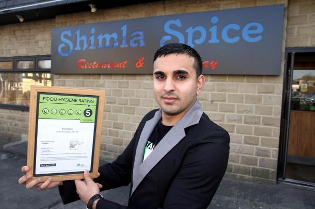 Keighley restaurant delighted with five star hygiene upgrade