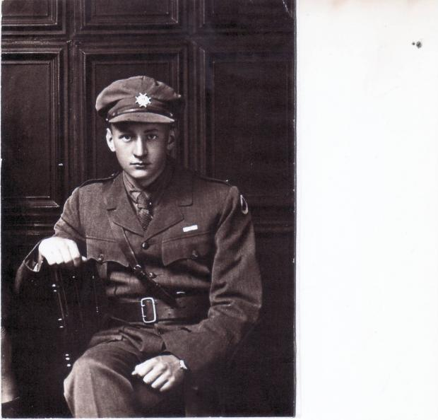 Keighley News: The unknown soldier, whose picture was discovered tucked inside a Bible
