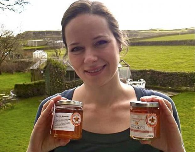 Vicky Swann with some of her prize-     winning marmalade
