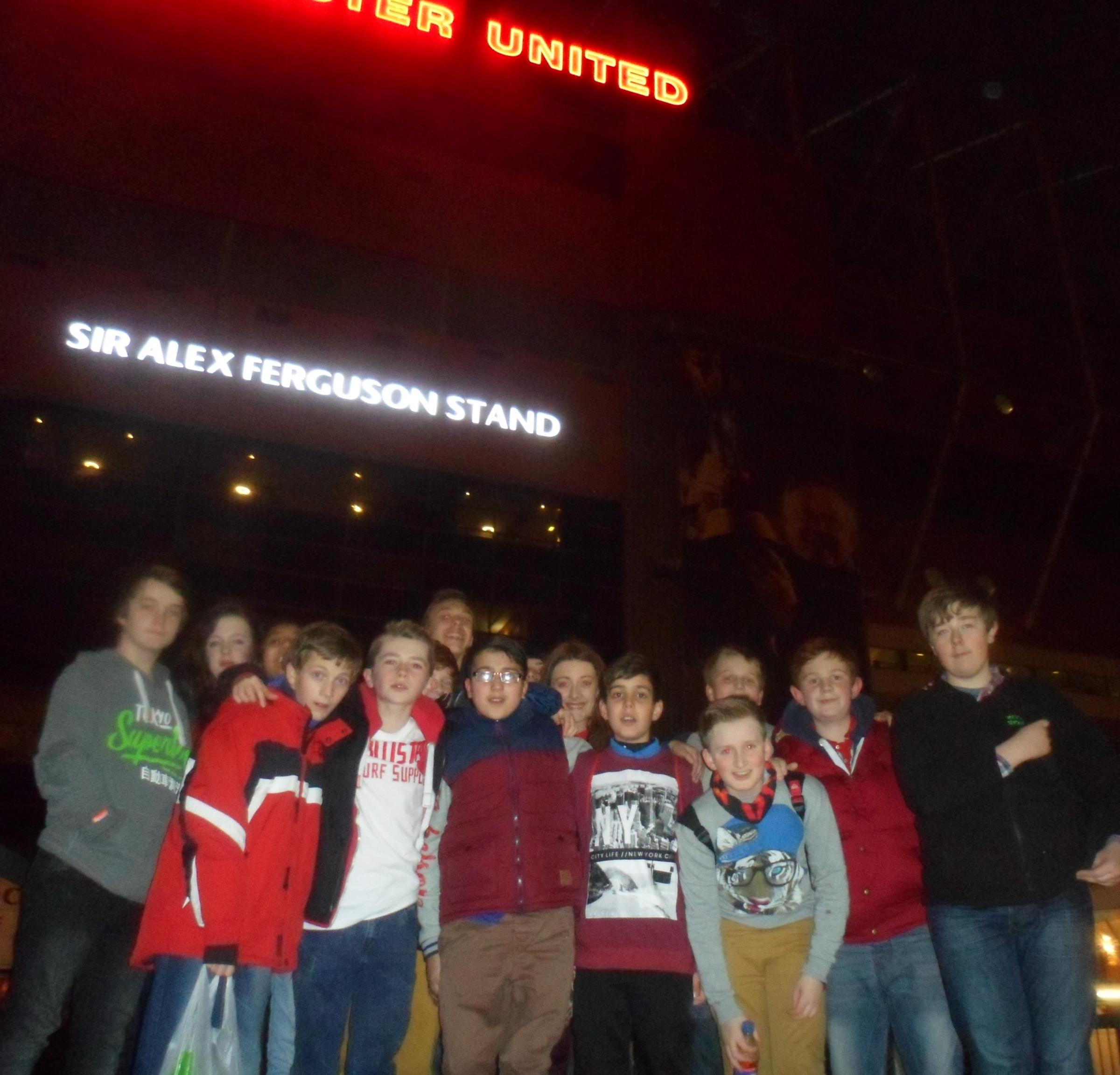 l Pupils from Parkside School at Old Trafford