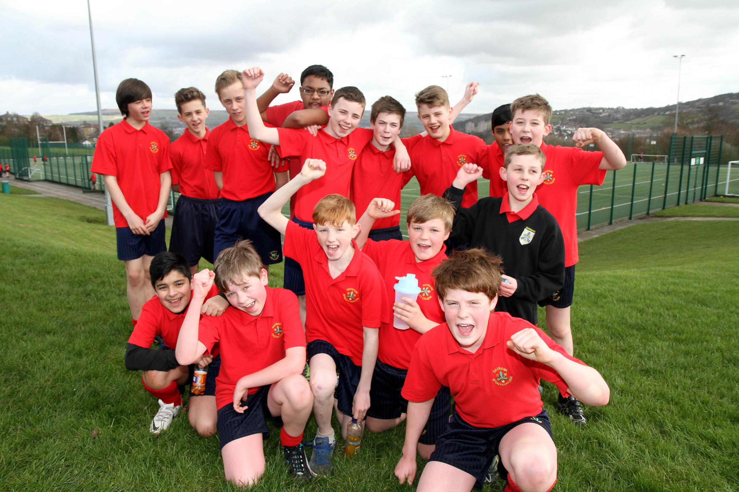 Some of the Oakbank School pupils who took part in the Sport Relief mile