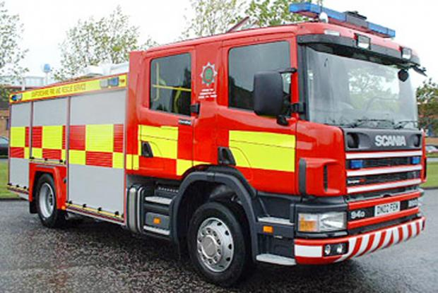Fire crew called after potty goes to the head of Keighley tot