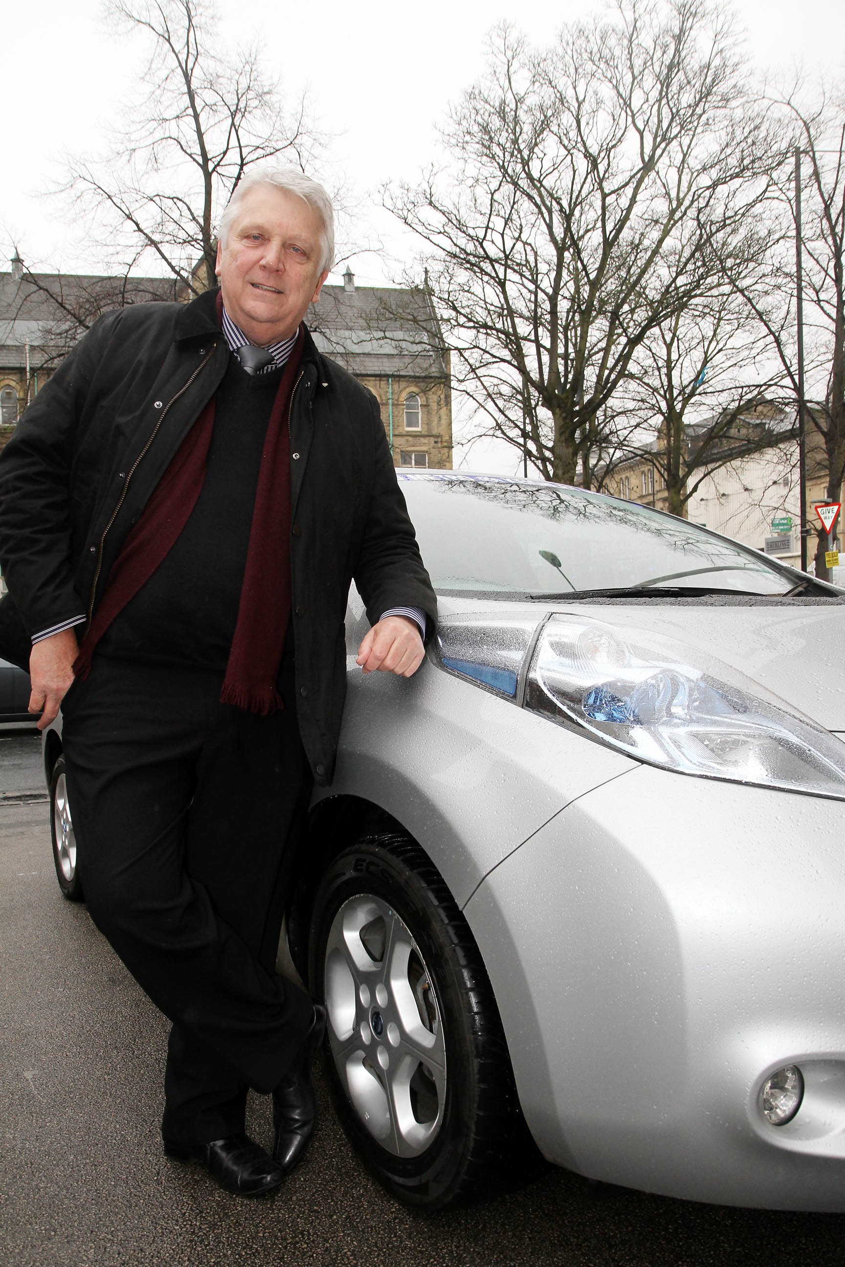 Private-hire boss Stuart Hastings with the electric car