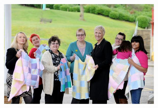 Tricia Stewart, fifth from left, with members of Bingley Women's Institute who made a recent donation