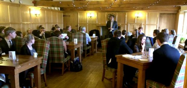 Julian Smith MP invited teachers and pupils to lunch