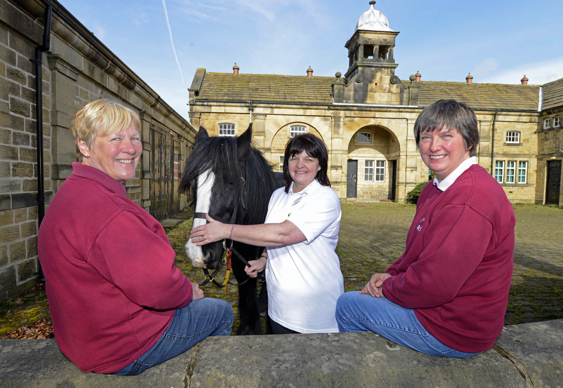 Louise Forbes, centre, of the Yorkshire Building Society, with, from
