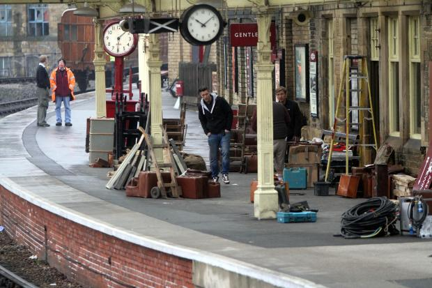 Keighley's heritage railway is used for 'war' film