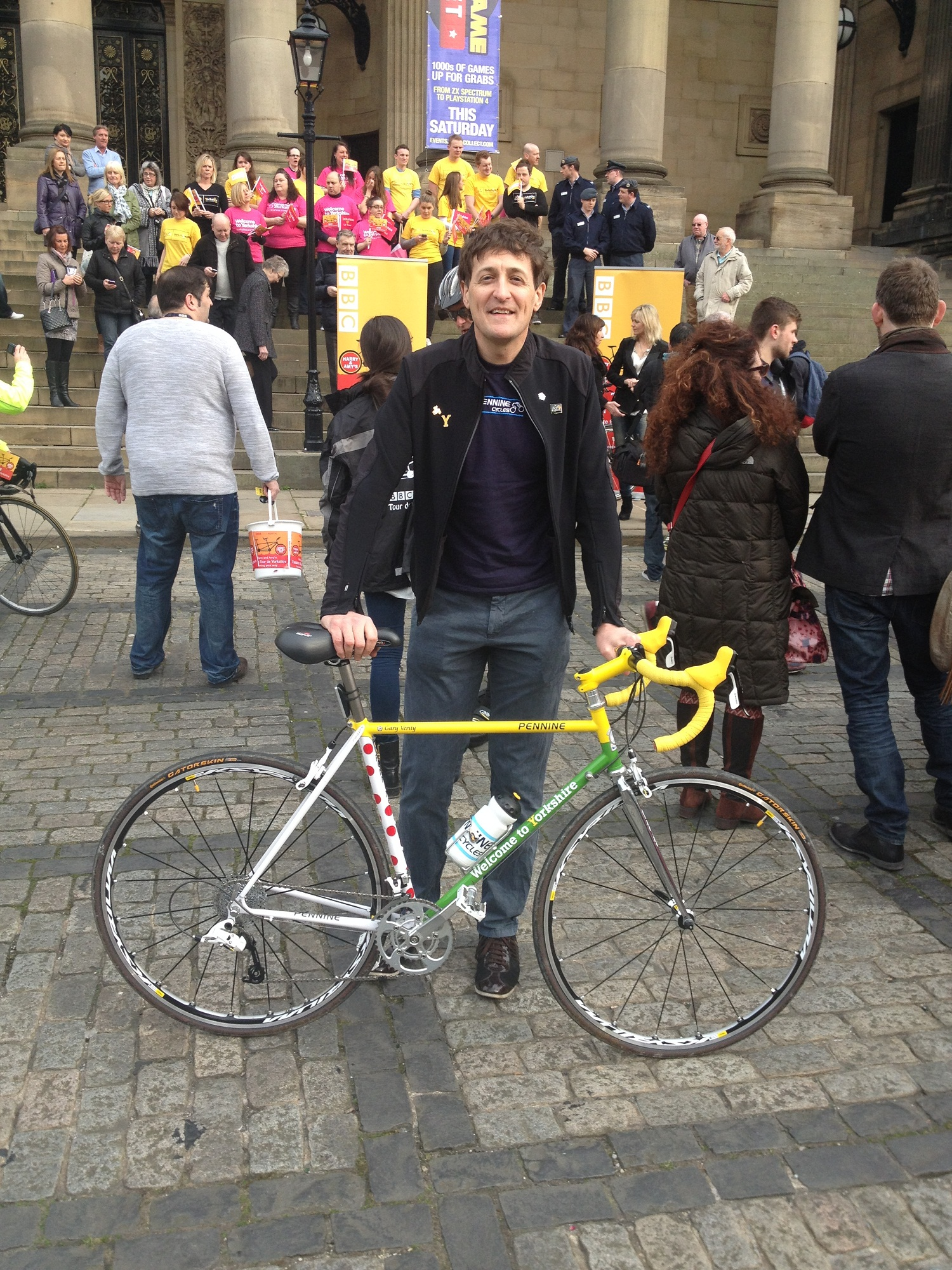 Paul Corcoran with the bike