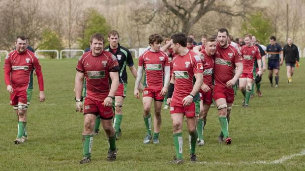 Keighley News: Keighley look more relieved than pleased after their home victory over Wath. Picture: Charlie Perry